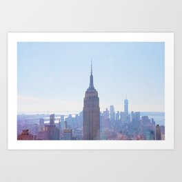 The View from the Top of the Rock Art Print