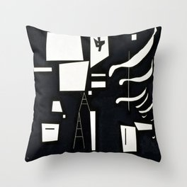 Wassily Kandinsky Soft and Hard Throw Pillow