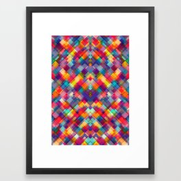 Squares Everywhere Framed Art Print