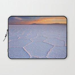 II - Salt flat Salar de Uyuni in Bolivia at sunrise Laptop Sleeve