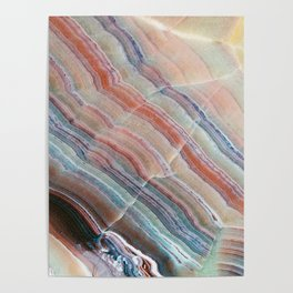 Pastel Onyx Marble Poster