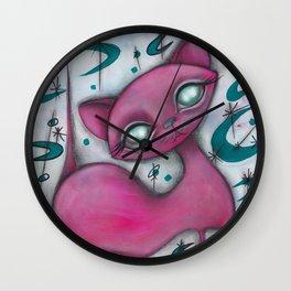 Jane cat Wall Clock