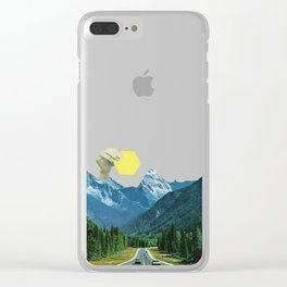 Moving Mountains Clear iPhone Case