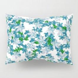 Summer Blues, Floral Pattern Pillow Sham