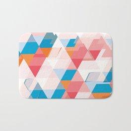 Crumbling triangles Bath Mat