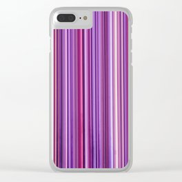 Pink Purple Stripes Clear iPhone Case