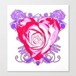 Framed Love Canvas Print
