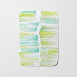 6 | 181101 Watercolour Palette Abstract Art | Lines | Stripes | Bath Mat