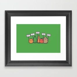 I hate vegans Framed Art Print