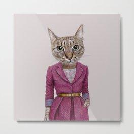 cat Mrs Metal Print