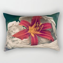 Angel and Daylily Rectangular Pillow