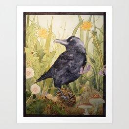 Canuck the Crow Art Print