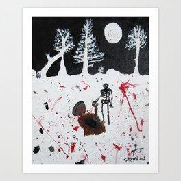 The Grave Keeper's Last Dig Art Print
