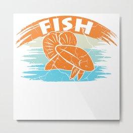 Fish Goldfish Aquarium Gift Clownfish Metal Print