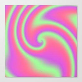 Tutti Frutti Ribbon Candy Fractal Canvas Print