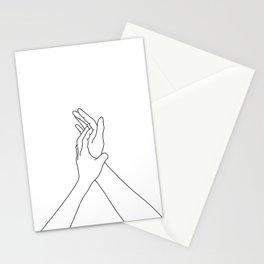 Hands line drawing illustration - Mandy Stationery Cards