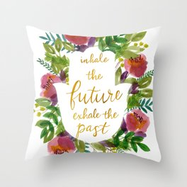 Inhale the Future Throw Pillow