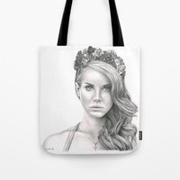 the national Tote Bags featuring National Anthem by petitehoneybee