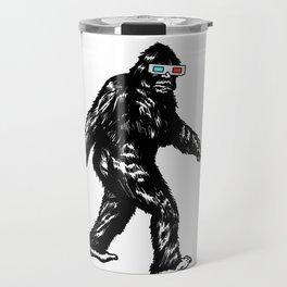 GONE SQUATCHIN' WITH 3D GLASSES Travel Mug
