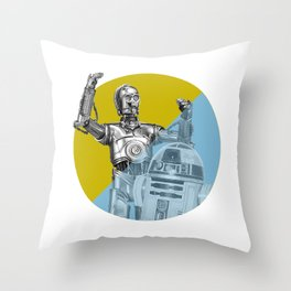 """""""R2D2 you know better than to trust a strange computer!"""" Throw Pillow"""