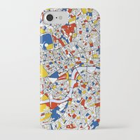 london iPhone & iPod Cases featuring London by Mondrian Maps