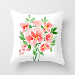 Coral Sea Dreaming Throw Pillow