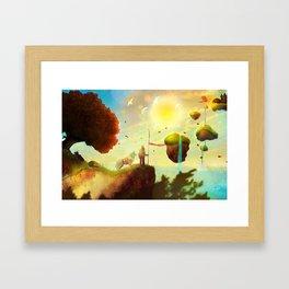 Burning Leaves Framed Art Print