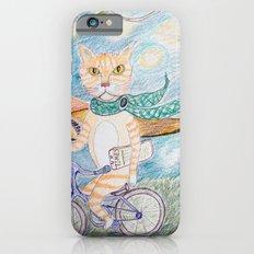 cat on bike iPhone 6s Slim Case