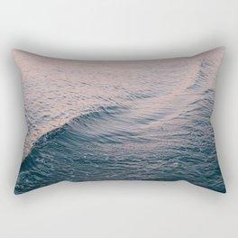 Pink Sunset Waves Rectangular Pillow