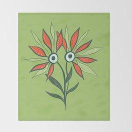 Cute Eyes Flower Monster Throw Blanket