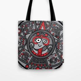 Mexicanitos al grito - Calendarito Azteca Tote Bag