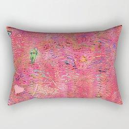coral tiger love Rectangular Pillow
