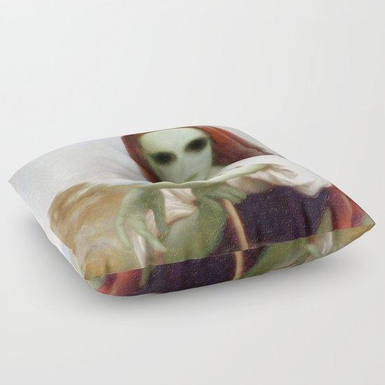 Bouguereau's Alien Shepherdess Floor Pillow