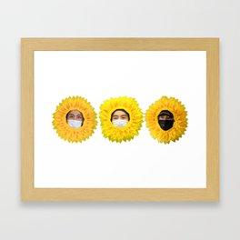 BTS Sunflowers Framed Art Print