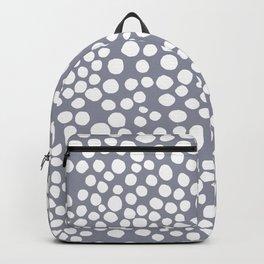 Random Dots in Blue Seamless Pattern Backpack