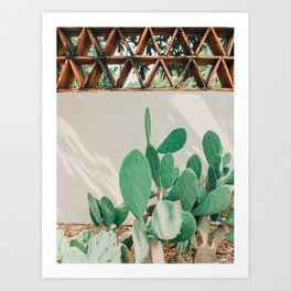 Breezy Prickly Pear  Art Print