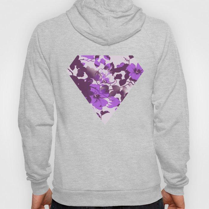 floral silhouette in purple Hoody