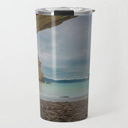 Dawn at Cathedral Cove Travel Mug