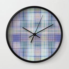 Scottish tartan pattern deconstructed Wall Clock