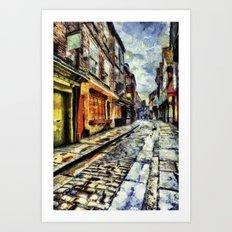 The Shambles York Van Gogh Art Print