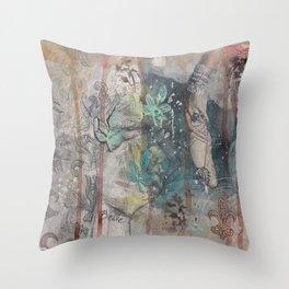 Jeweled Slipper Throw Pillow
