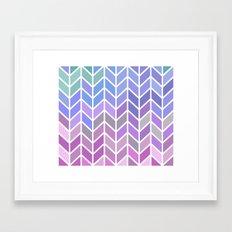 blue & purple chevron Framed Art Print