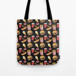 Fast-food (black) Tote Bag