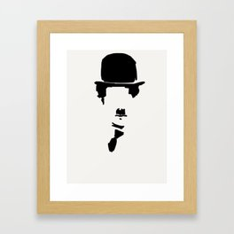 30- Charlie Chaplin & his Hat, tie and mustache Framed Art Print