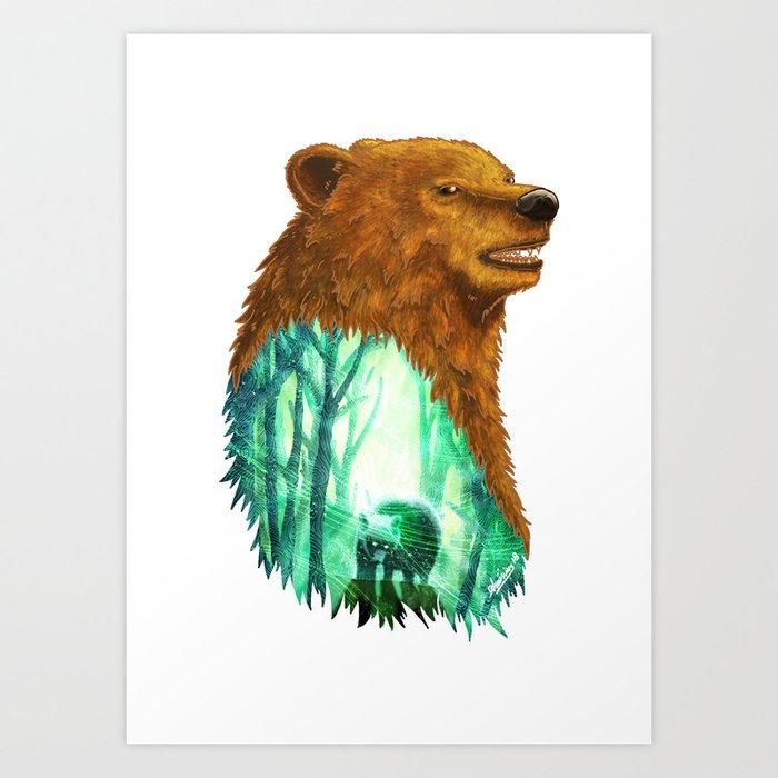 Bear's Forest Art Print