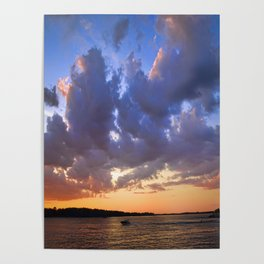 Sunset on the Niagara river Poster
