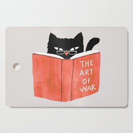 Cat reading book Cutting Board