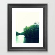 Water Cuts Through the Land Framed Art Print