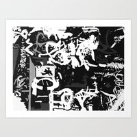 Black & White Graffiti Art Print