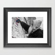 Occupy Truth, He said Framed Art Print